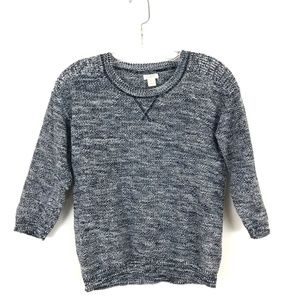 J. Crew 3/4 sleeve marled knit pullover sweater